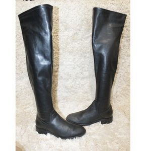 Sam Edelman Remi Over the Knee Black Leather Boots